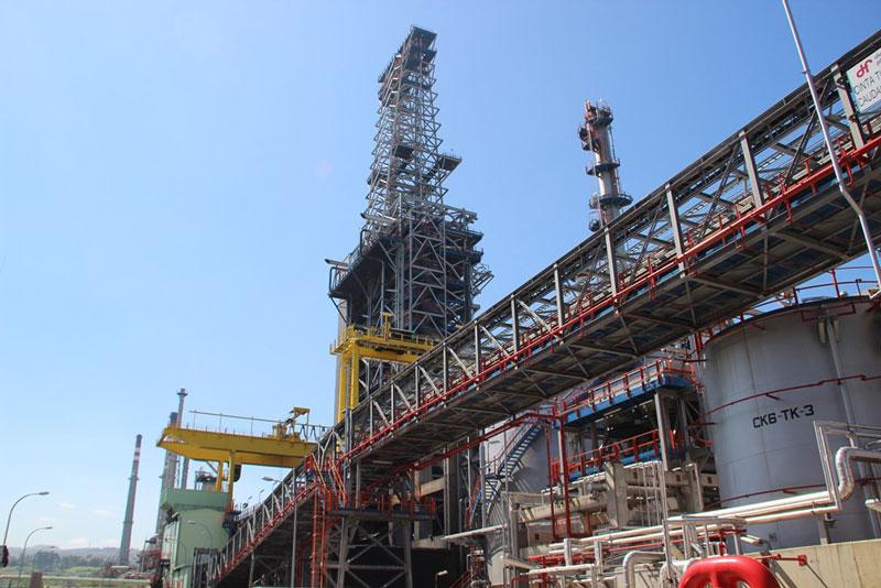 Bilogistik, empresa transportista de los graneles sólidos de la planta URF de Petronor
