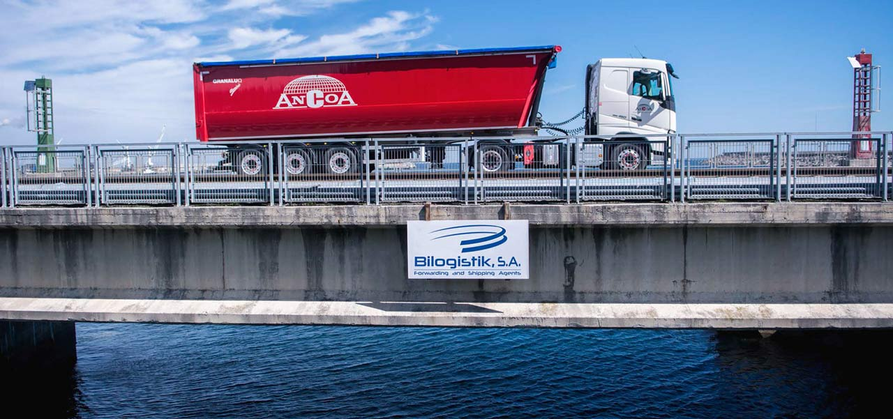 Flota de camiones de Bilogistik en Santurce