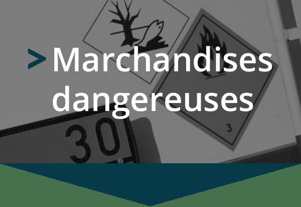 Transport pour les marchandises dangereuses