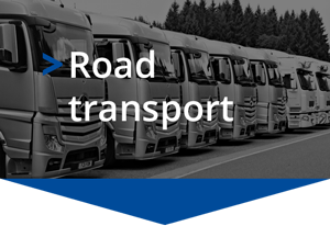 Goods road freight transport